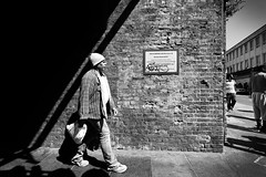 IMG_0501 (1) (JetBlakInk) Tags: brickie brixton magichour monochrome streetphotography shadow candid manonamission subjecttoground railwaybridge blackman