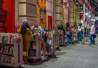 Searching the stacks at the Strand