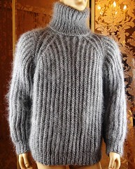 Mohair turtleneck (Mytwist) Tags: brushed mohair hand knitted silver gray ribbed tn tneck sweater jumper tigrisina turtleneck rollneck rollkragen design style exclusive fashion thick itchie vintage vouge grobstrick handgestrickt knit retro cozy bulky modern passion love laine pure wool casual knitting fuzzy craft fetish thich pullover
