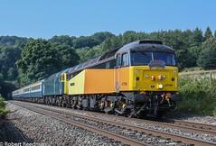 47749 1Z84 (47843 Vulcan) Tags: gbrf 47749 47727 colas rail pathfindertours class 47 477brushsulzersleeper edinburgh castle chevin derbyshire belper