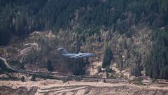 Fly Past - A82 April 2018 (GOR44Photographic@Gmail.com) Tags: boeing c17 globemaster a82 road bridge beinndorain trees scotland gor44 beinnandothaidh plane panasonic gx8 45200mmf456 munro highlands spring bridgeoforchy
