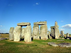 Crowns on the lintel at Stonehenge (markhorrell) Tags: britain walking stonehenge wiltshire antiquities