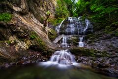 Moss Glen Falls Closeup - Stowe, 2018 (Dino Sokocevic) Tags: stowe nature outdoors nikon nikonusa newengland vermont vt landscape landscapes tamron tamronusa green mountains nd10