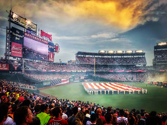 Old Glory at Nationals Park (Rob Shenk) Tags: summer nationalspark stadium flag homerunderby asg dc washington nationals mlb baseball