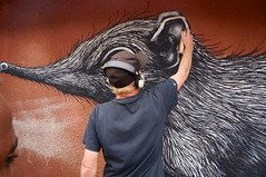 ROA's elephant shrew (kuremarwanda) Tags: streetart rwanda roa roaartist roainrw mural kuremakurebakwiga kigali nyamirambo shrew elephantshrew