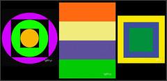 Triptych Geometrics.. (Picture post.) Tags: geometric triptych color art