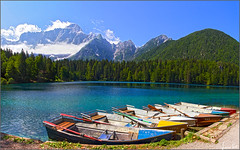 summer of '18 (Luciano Silei - sky7) Tags: summer fusine lake landscape panorama paesaggi wideangle colors hdr mountains clouds alps alpigiulie lucianosilei canon7d canon1740mm