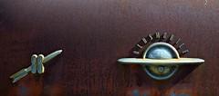 Olds Rocket 88 (David Sebben) Tags: oldsmobile rocket sedan trunk rust patina badges iowa