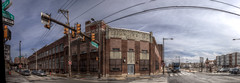Panorama 3598_hdr_pregamma_1_mantiuk06_contrast_mapping_0.1_saturation_factor_0.8_detail_factor_1 (bruhinb) Tags: panorama hdr philadelphia pa usa eraserhood 10thstreet callowhillstreet architecture esslingersinc sky car road building brewery historical industrialsite beer