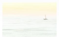 Quiet on a white sea (Craigdrezek.com) Tags: red ocean sea nikon water seascape white quiet peaceful calming relax serene boat sail sailboat sky pastel