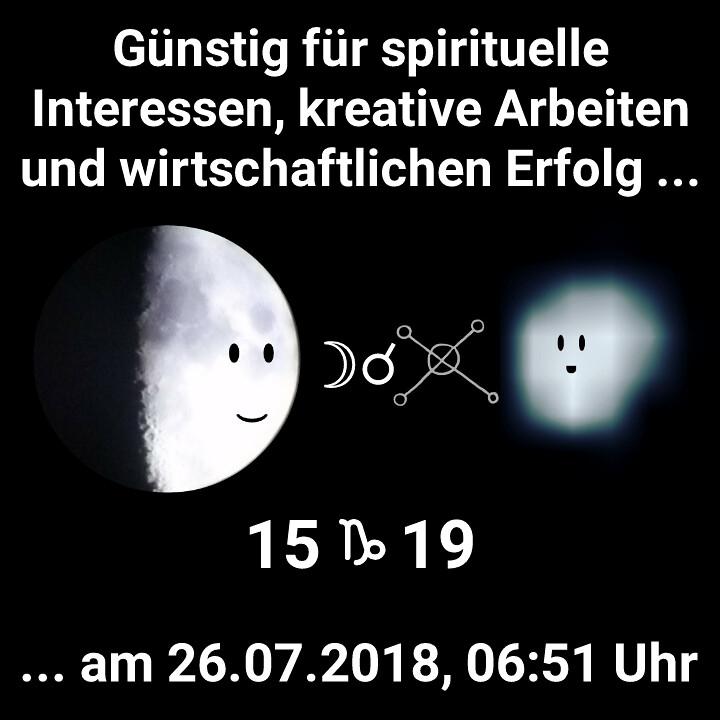 Mond Konjunktion Wega
