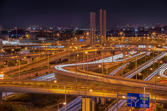 Wangan Night (703) Tags: haneda hanedaairport japan pentaxk3ii tokyo airport cityscape expressway lighttrals motorway night nightscape nightscene nightview レーザービーム 夜景 日本 東京 空港 羽田 羽田空港
