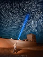 The Stars Master (Antoni Figueras) Tags: wortex africa desert sahara kasbah ouzina stars lantern man light sonya7rii laowa12 morocco