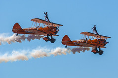 Southport Airshow 2018 (Robert McEwen) Tags: aircraft airshow airplane jet flight aviation raf royalairforce military southport merseyside display aerobatics nikon uk summer 2018 theflyingcircus wingwalking wingwalkers
