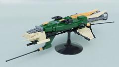 "Alien frigate ""Tony"" class (Sunder_59) Tags: lego moc render blender3d scifi space spaceship starship spacecraft military alien vehicle"