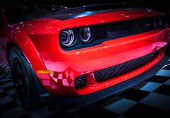 DEMON (Dave GRR) Tags: dodge challenger demon red sportscar muscle car toronto auto show 2018 beauty olympus