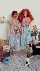 Carmen & Iria dressed by    maggi (amartpas) Tags: jswdolls barbie ooak iria carmen mackie dollsoftheworld dotw irishdance teenskipper spain maggisatelier wearingdreams myfairydoll