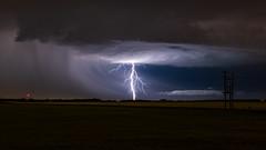 Poser, Sturgeon Co, Alta (WherezJeff) Tags: alberta sturgeoncounty lightning canada night nocturnal