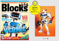 Magazine feature. (Blocks magazine issue 39, page 93) (Loysnuva) Tags: lego moc magazine feature blocks mecha phtalos loysnuva bionifigs