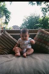 Spare Tyre (eekiem) Tags: olympus mju2 fujicolor c200 bali vacation travel asia baby