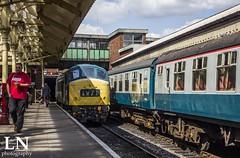 At its 'Peak' (Bluke's Photography II) Tags: elr east lancashire railway diesel gala br british rail railways preserved class 45 45108 peak bury bolton street