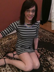 June 2018 (Girly Emily) Tags: crossdresser cd tv tvchix tranny trans transvestite transsexual tgirl tgirls convincing feminine girly cute pretty sexy transgender boytogirl mtf maletofemale xdresser gurl glasses dress tights hose hosiery indoor stilettos highheels