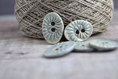 ammonite buttons (Cherryhill Studio) Tags: ceramic handcrafted buttons ceramicbuttons ammonite