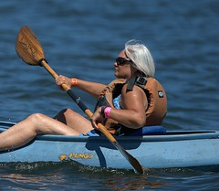 Paddling By (Scott 97006) Tags: paddle woman female lady river exercise recreation lifevest sunshine sport
