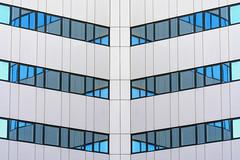 Symmetric reflections (Jan van der Wolf) Tags: map18097ve white wit windows facade gevel gebouw building rijswijk symmetric symmetry symmetrie reflection reflections architecture architectuur spiegeling ramen