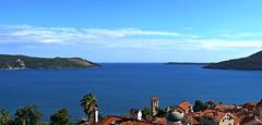 Bay of Kotor entrance (superhic) Tags: crnagora montenegro bayofkotor bokokotorskizaliv hercegnovi more sea water clouds