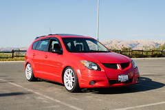 DSC_0702 (jaytotheveezy) Tags: pontiac vibe base lava red 1zz work crkai kiwami ultimate bcracing coilovers toyo tires genvibe