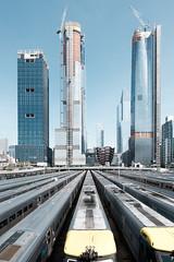 Hudson Yards (GeraldGrote) Tags: usa skyscraper highrise manhattan hudsonyards newyork trains construction city us