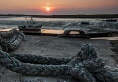 Essex Barling Hall Creek. (daveknight1946) Tags: sunrise rope essex barling barlinghallcreek fishingboat mud pink
