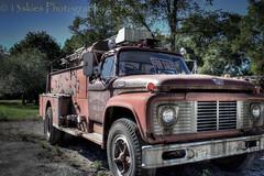 Fire Dept (HTT) (13skies) Tags: firetruck hdr scotlandon red old service tires rescue help 911 savinglives htt truckthursday truck servicevehicle big happytruckthursday canont3i bracketed highdynamicrange ford