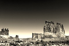 arches national park (hmong135) Tags: archesnationalpark utah formations bw landscape