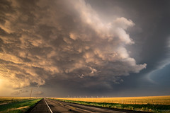 Stormclouds Crossing the Road (mesocyclone70) Tags: thunderstorm storm stormchase colour evening road landscape sky weather turbulence supercell texas chase dramaticsky horizon therebeastormabrewin