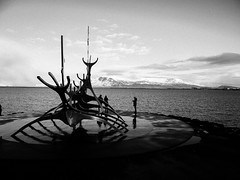 The Sun Voyager (Halibel14) Tags: thesunvoyager iceland reykjavik olympus pen epl1 panasonic blackandwhite