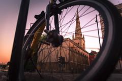 St Nicholas' Church, Bristol, UK (KSAG Photography) Tags: bicycle bike wheel sunset city urban hdr frame church architecture history heritage religion building nikon june 2018 wideangle summer street streetphotography england uk unitedkingdom europe britain