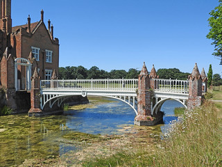 Bridge at Helmingham Hall, Suffolk