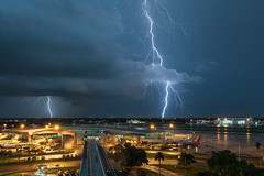 Lightning over Tampa 7/2/18. (F7sound) Tags: therebeastormbrewing lightning storm thunderstorm tampa florida weather wx tampabay longexposure tampainternationalairport sonya7riii