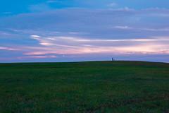 Solitude (rsvatox) Tags: saintpetersburg colours sunset skyline nature people landscape russia bicycles plain evening grass field