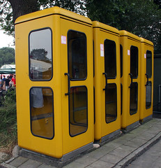 Bundespost phone booths (Schwanzus_Longus) Tags: bockhorn german germany old classic vintage deutsche bundespost telefonzelle telephone phone booth