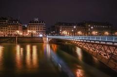 Pont d' Arcole (karinavera) Tags: city longexposure night photography cityscape urban ilcea7m2 sunset france paris river seine