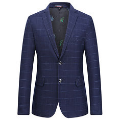 Slim Fit Plaid Checkered Single Breasted 2 Buttons Fashion Casual Blazers for Men (1198812) #Banggood (SuperDeals.BG) Tags: superdeals banggood clothing apparel slim fit plaid checkered single breasted 2 buttons fashion casual blazers for men 1198812
