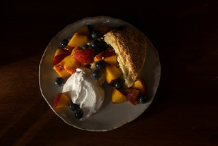 Fresh fruit and scone