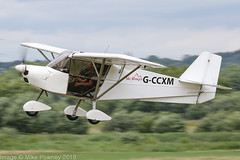 G-CCXM - 2004 build Best Off Skyranger, departing from Runway 26L at Barton during FlyUK 2018 (egcc) Tags: bmaahb337 barton bestoff cityairport egcb finnegan flyuk gccxm homebuilt jordan lightroom manchester microlight skyranger