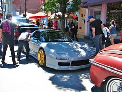 A CUSTOM 1991 ACURA NSX IN JULY 2018 (richie 59) Tags: ulstercountyny ulstercounty newyorkstate newyork unitedstates sunday weekend trees automobiles autos motorvehicles vehicles saugertiesny saugerties cars richie59 america carshow outside crowd people customcar trucks summer sawyermotorscarshow 2018 july2018 july82018 1991acuransx 1991acura 1991nsx acuransx acura nsx customacura 2010s hudsonvalley midhudsonvalley midhudson ny nys nystate usa us 1990scar japanesecar village villagestreet street 2door twodoor coupe acuracoupe tuner graycar oldcar frontend grill headlights oldbuildings buildings sidewalk storefronts sideview