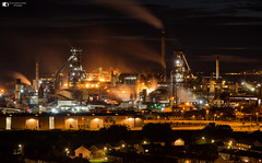 Port Talbot steel works (technodean2000) Tags: port talbot steel works south wales uk night sky line panorama lightroom outdoor city architecture skyline water waterfront dusk building ©technodean2000 lr ps photoshop nik collection nikon technodean2000 flickr photographer d810 wwwflickrcomphotostechnodean2000 www500pxcomtechnodean2000