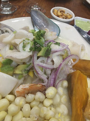 Ceviche (Loon Man Returns) Tags: ceviche jacksonheights queens nyc mussels redonion peruvianfood