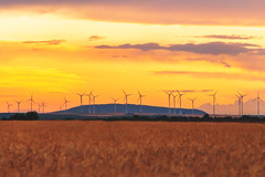 Wind Energy and Donnersberg (Marc Braner) Tags: ifttt 500px rhinelandpalatinate worms germany europe wind energy donnersberg mountain alternative regenerative landscape field environment sky orange sunset dusk summer clouds clean power plant